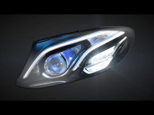 画像: MULTIBEAM LED headlamps in the new E-Class - Mercedes-Benz original www.youtube.com