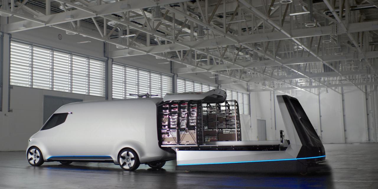 画像: Vision Vanは、オンデマンドの新たな配送システムを提案している。