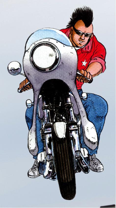 """画像: これぞ""""男の友情""""のバイブル「湘南爆走族」のすべて~愛車編:マル × KAWASAKI KH400~ - LAWRENCE - Motorcycle x Cars + α = Your Life."""