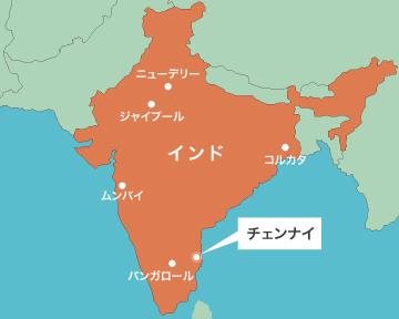 画像: チェンナイ市の位置図