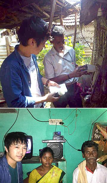 画像: 農村部のユーザーを訪ねる増田氏