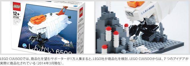画像: LEGO CUUSOOでは、商品化を望むサポーターが1万人集まると、LEGO社が商品化を検討。LEGO CUUSOOからは、7つのアイデアが実際に商品化されている(2014年3月現在)。