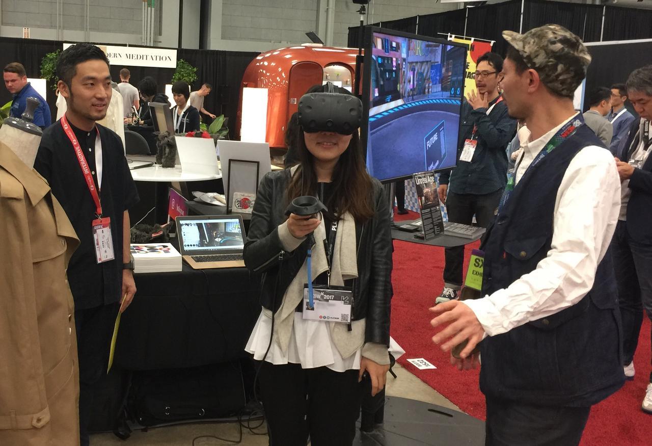 画像: SXSW 2017に出展した際の様子。VRで未来の売り場を表現した「デザイナーズモール・オブ・トーキョー in the FUTURE」
