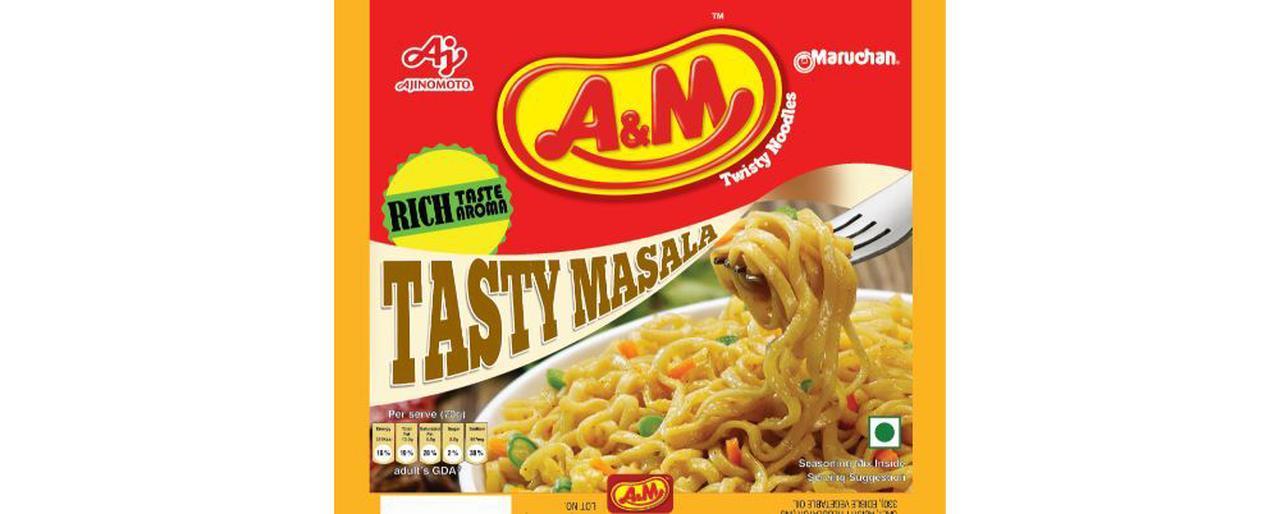 画像: 味の素と東洋水産株式会社による合弁会社「マルちゃん味の素インド社」が販売している即席麺。