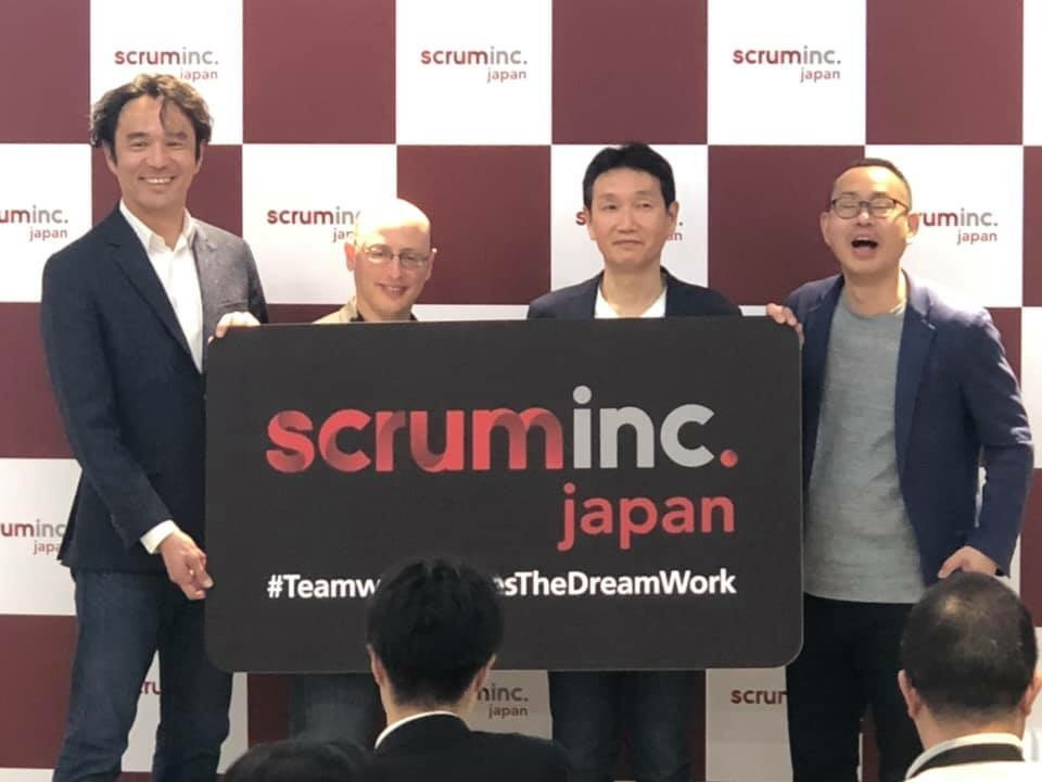 画像: Scrum Inc. Japan の設立発表会