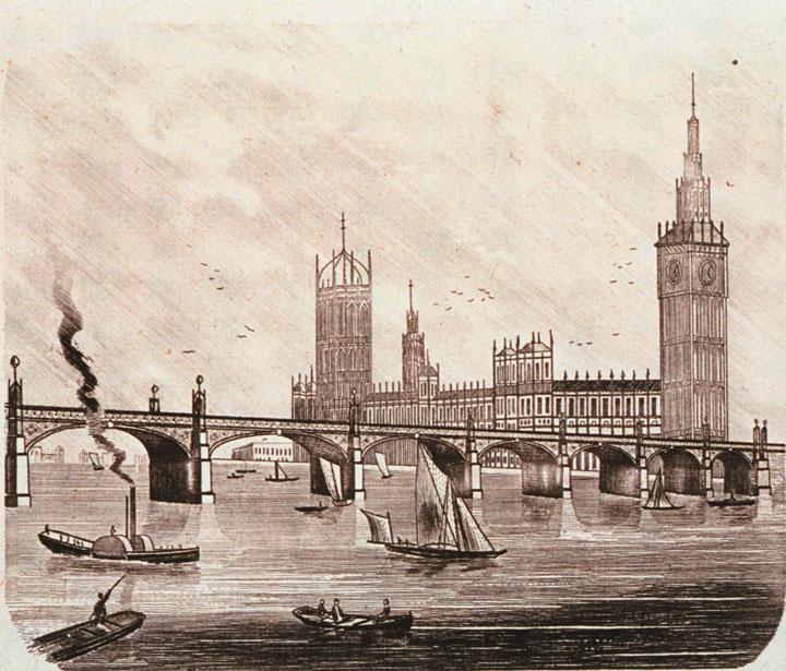 画像: ロンドンのウェストミンスター橋と国会議事堂。