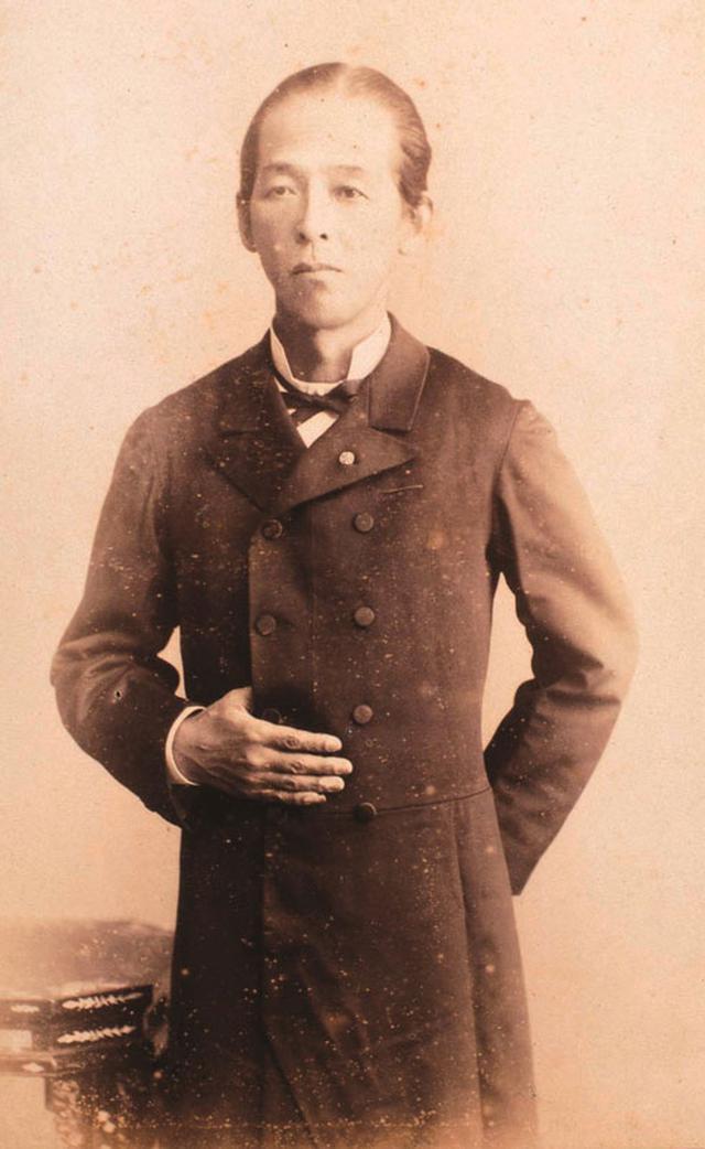 画像: 久米邦武の若き日の肖像。