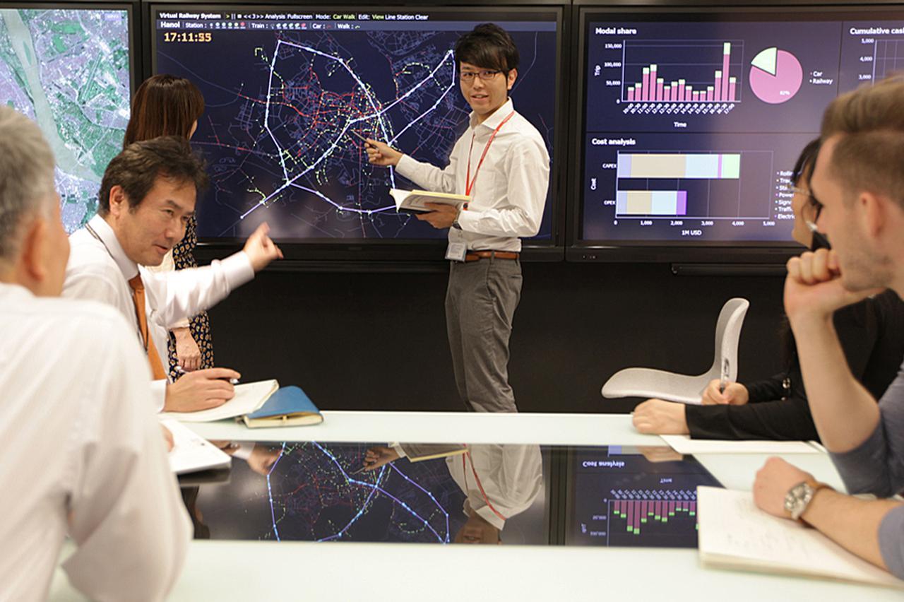 画像: 日立の研究開発グループが開発したシミュレーター「Cyber-PoC」の活用例