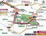 画像: バスの位置や待ち時間などを表示するビジュアル・バスロケーションシステムは、 金沢市内の2路線で導入されています