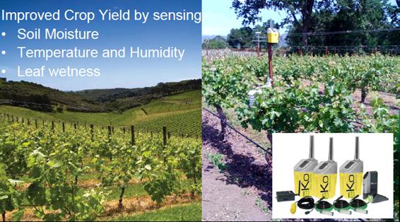 画像: 図3 農業にさまざまなセンサーを散りばめて最適な作物の収穫を目指す 出典:MEMSIC
