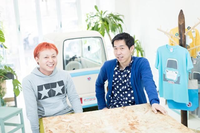 画像: プロフィール 伊藤 慎介(いとう しんすけ) (右) 株式会社rimOnO 代表取締役社長。1973年生まれ。京都大学大学院工学研究科卒業後、1999年に通商産業省(現、経済産業省)に入省。経済産業省では、自動車用蓄電池の技術開発プロジェクトなどのプロジェクトを立ち上げた後、2014年7月に経済産業省を退官。超小型電気自動車のベンチャー企業、株式会社rimOnOをznug design根津孝太と共に設立。 根津 孝太(ねづ こうた) (左) 責任者)。1969年東京生まれ。千葉大学工学部工業意匠学科卒業。トヨタ自動車入社、愛・地球博『i-unit』コンセプト開発リーダーなどを務める。 2005年有限会社znug design設立、多くの工業製品のコンセプト企画とデザインを手がけ、モノづくり企業の創造活動の活性化にも貢献。電動バイク『zecOO』、トヨタ自動車コンセプトカー『Camatte』『Setsuna』などの開発も手がける。