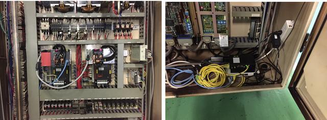 画像: 生産ラインに取り付けられた、IoT機器