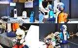 画像: 手前味噌ながら、BITSの展示は年々面白くなっていく。具体的に目に見えて体感できる商材が徐々に増えているからだ。その中でも、やはりロボットは分かりやすい。左上は、日本ユニシスのロボット群。店舗でお客さまのナビゲートを担当したり、夜中にRFIDを読んでひとりでに在庫管理をしたり、災害の現場でドクターと避災者のコミュニケーションを手助けしたり・・・有効で楽しみな応用が増えている。