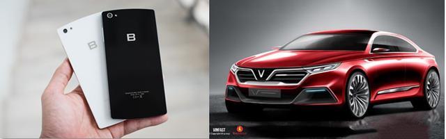 画像: 「B Phone」と「VinFast」。クルマのデザインについてWeb上で投票でき、好みを聞いている