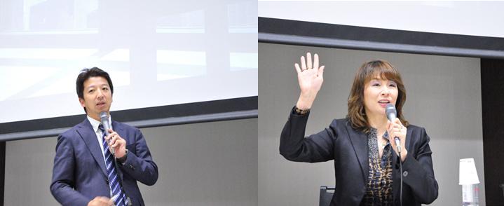 画像: シスコシステムズ 石黒 圭祐さん(左)、ポリコムジャパン 下村 たまえさん(右)