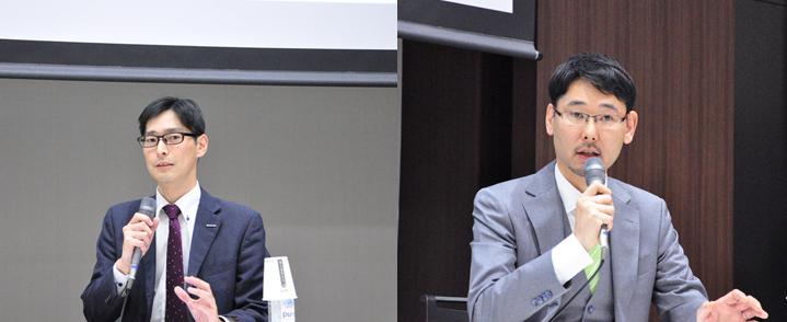 画像: 日本マイクロソフト 武田 新之助さん(左)、ワークスモバイルジャパン 岩瀬 義裕さん(右)