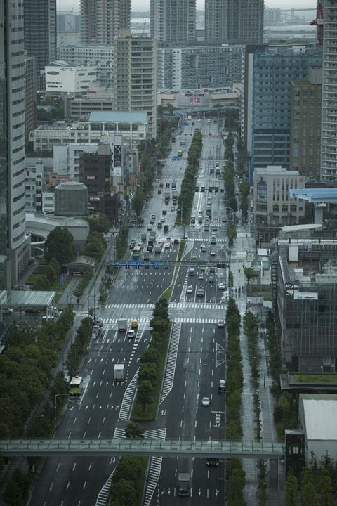 画像: 豊洲駅、東雲方面へと続くメインストリートを本社28階から撮影