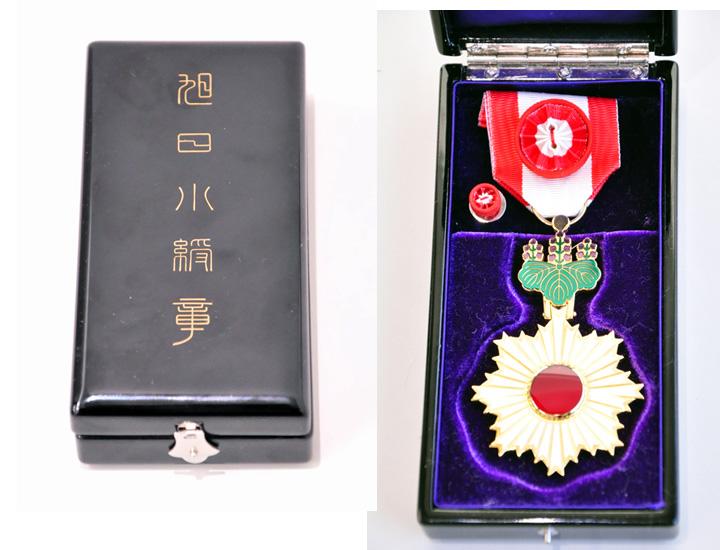 画像: フィリップ社長が授与された日本政府から授与された旭日小綬章。初めて拝見しました!