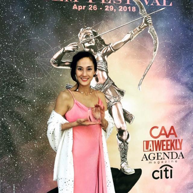 画像: ロサンゼルスで開催された「Artemis Women in Action Film Festival」で、最優秀ファイト・ウエポン賞を受賞しました。おめでとうございます!