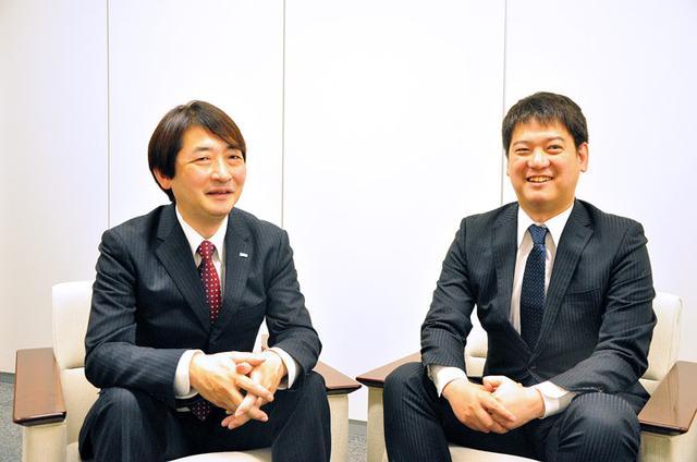 画像: 浅井(左)とUiPath社の宍戸さまです。私たちが講演します