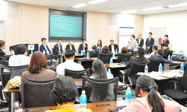 画像1: 【レポート】タイの国家レベルの研究に従事する8大学の方々が、ユニアデックスを訪問!産学連携を目指して(2019年11月28日)