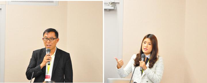 画像: タイ参加者のプレゼンテーション。タイの養豚IoTの取り組みと未来のモビリティー戦略をご紹介くださいました