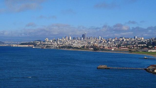 画像: サンフランシスコ市内。一番高いタワーがSalesforce Tower
