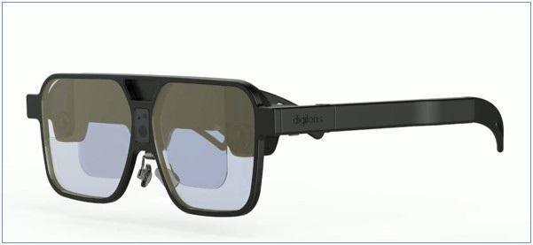 画像: Digilens社のプロトタイプ。Glass型のデバイス