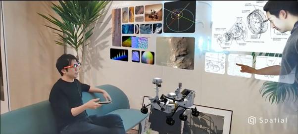 画像: Spatial社のホログラミングテレプレゼンス