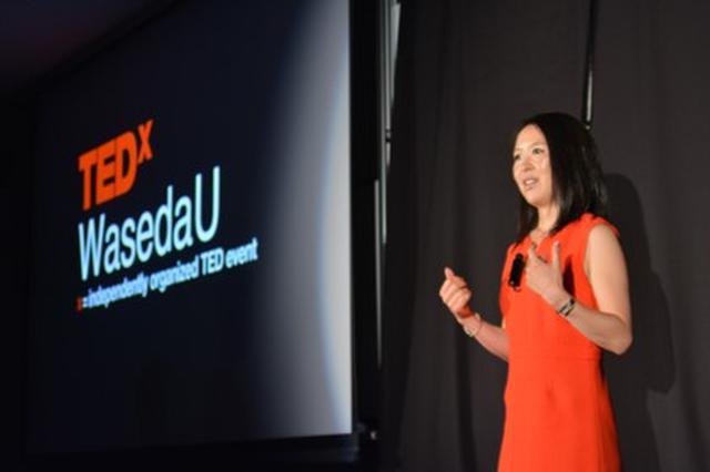 画像: 2015年TEDxWasedaUに登壇。スピーチ「Living in the YES」が反響を呼んだ。