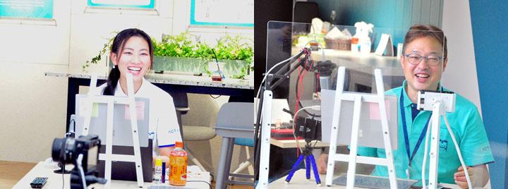 画像: 2日間MCとして大いに楽しんでいたDX創生本部の森有希(左)とエバンジェリスト高橋優亮(右)