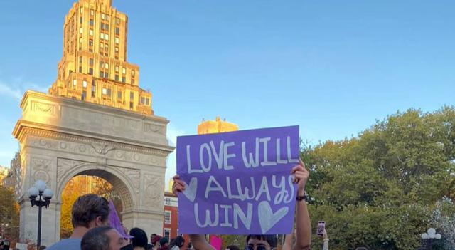 画像: ワシントンスクエア・パーク(2020年11月7日)