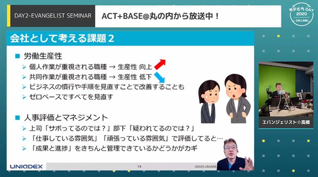画像: オンラインイベントでの講演の模様(2)