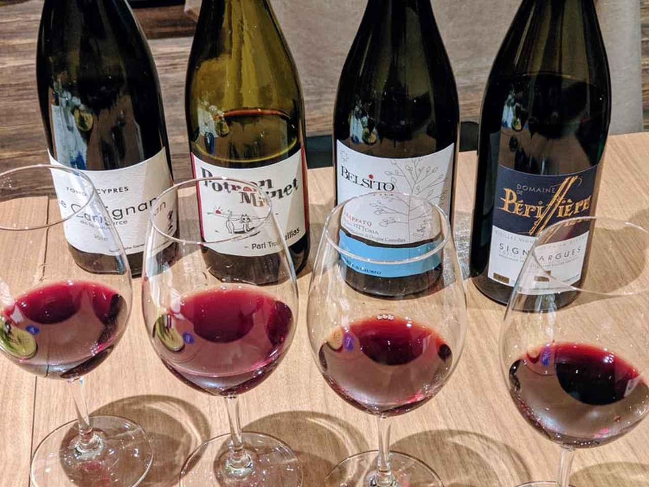画像: 赤ワインの色は主にアントシアニンなので、赤ワインには多く含まれています。一方、白ワインにも少しだけ含まれています