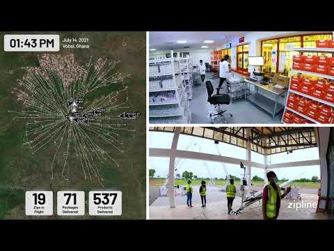 画像: A day at Zipline - Vobsi, Ghana - Timelapse www.youtube.com