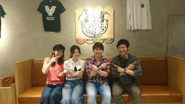 画像: takaさんの横に座っているのか『たなかみな』さんでーす。 左端は店長さんで、右端はCOOの引田さん。