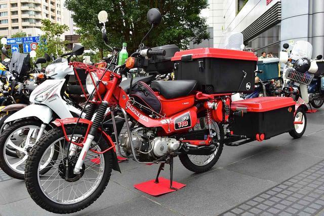"""画像: CT110 aka """"Hunter Cub"""" was designed for the people riding motorcycles into mountains www.autoby.jp"""