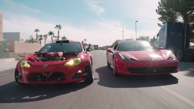 画像: Ferrari-Powered Toyota Doing Donuts Around a 458! | The GT4586 | Donut Media www.youtube.com
