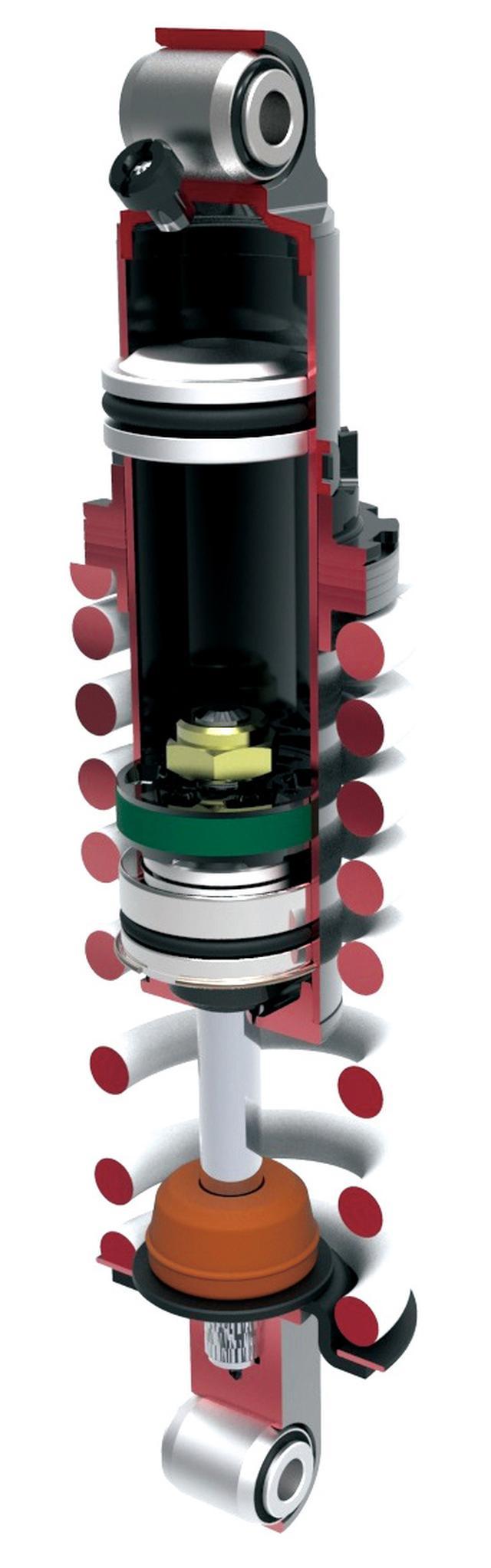 画像: Pre-load adjustable rear suspension is refined to work from low to high speed. www.autoby.jp
