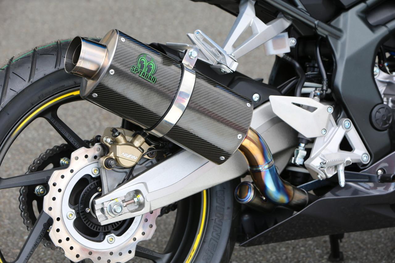 画像: SP TADAO muffler. The small chamber beside the exhaust pipe increase torque output. www.autoby.jp
