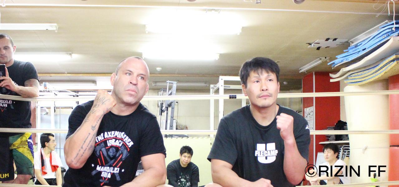 画像1: 「RIZINを世界一の格闘技イベントにする」(シウバ) レジェンド揃い踏み! シウバ&田村、『トップ Presents RIZIN.1』に向けて公開練習!!