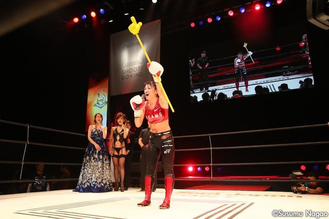 """画像12: 『SHOOT BOXING WORLD TOURNAMENT S-cup 2016』 """"絶対女王""""RENA勝利! ベネットはダウン奪うも1回戦敗退。"""