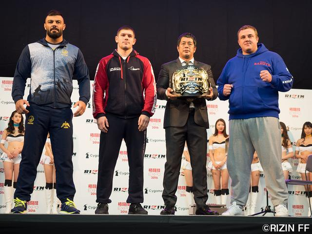 画像2: 12・31『Cygames presents RIZIN FIGHTING WORLD GRAND-PRIX 2016 無差別級トーナメント Final ROUND』公開計量