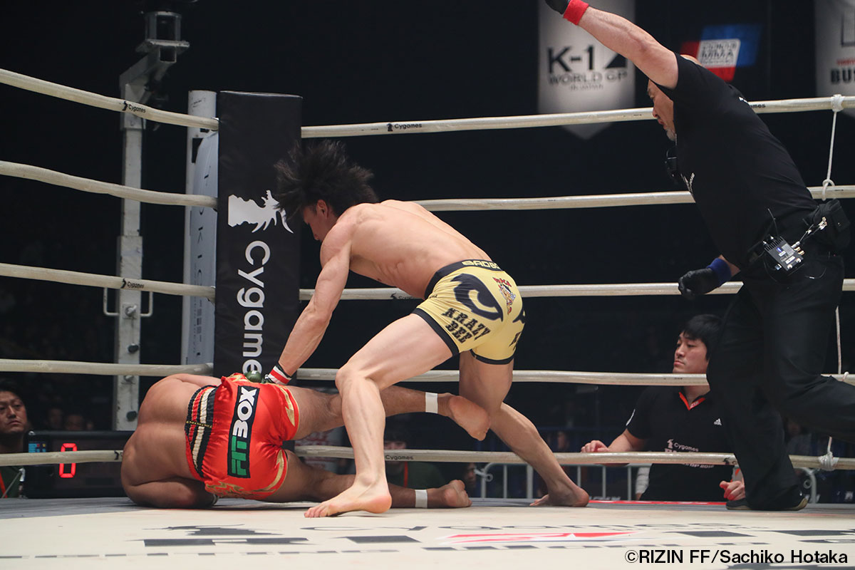 画像2: 第4試合 矢地祐介 vs. マリオ・シスムンド(試合結果詳細) Cygames presents RIZIN FIGHTING WORLD GP 2016 無差別級トーナメント 2nd ROUND