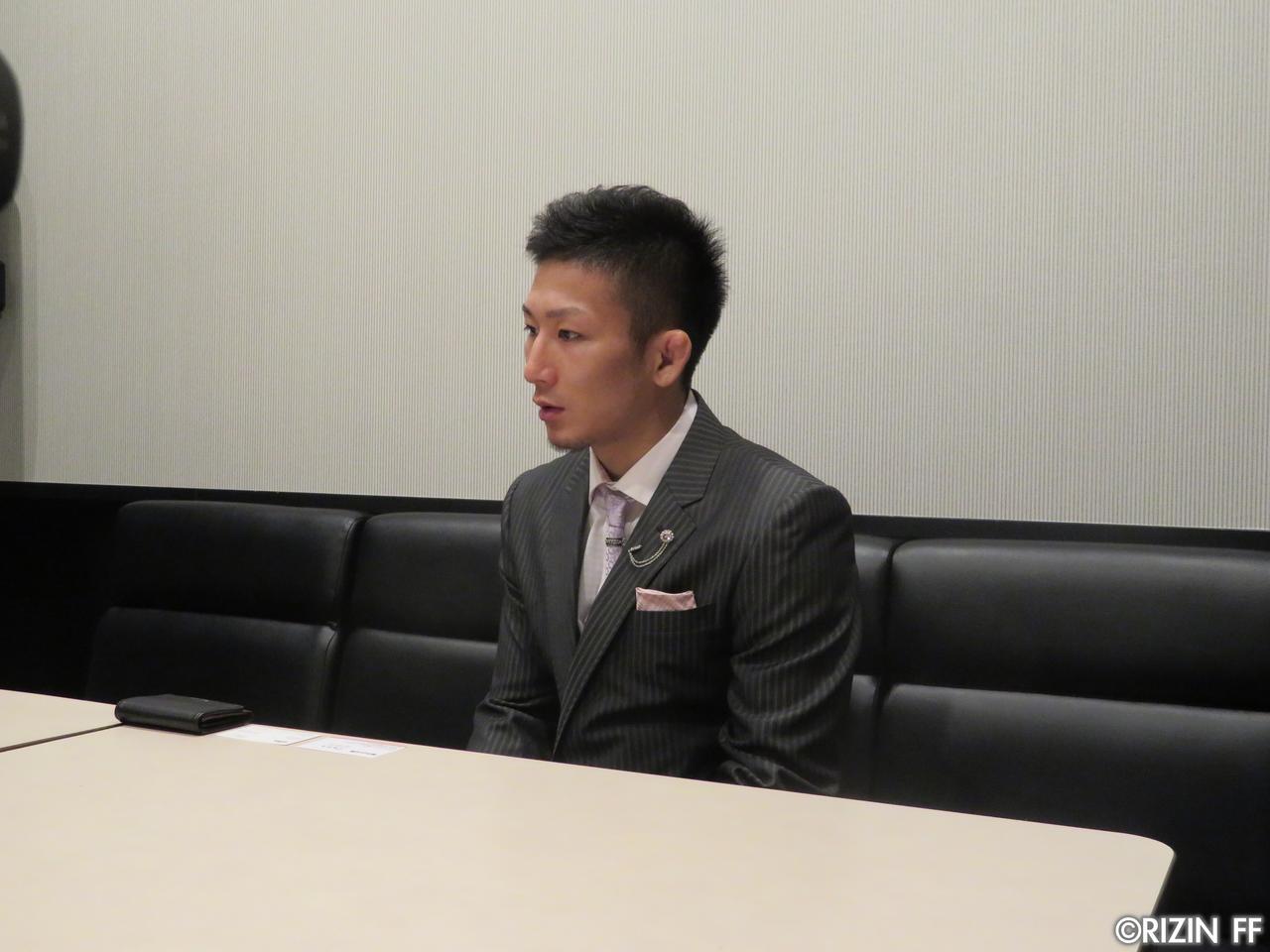 画像1: [インタビュー]元谷友貴、堀口相手に大物食い宣言!!