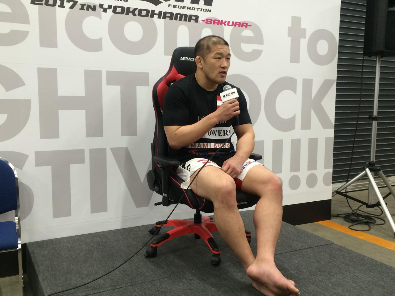 画像: 石井慧 試合後インタビュー