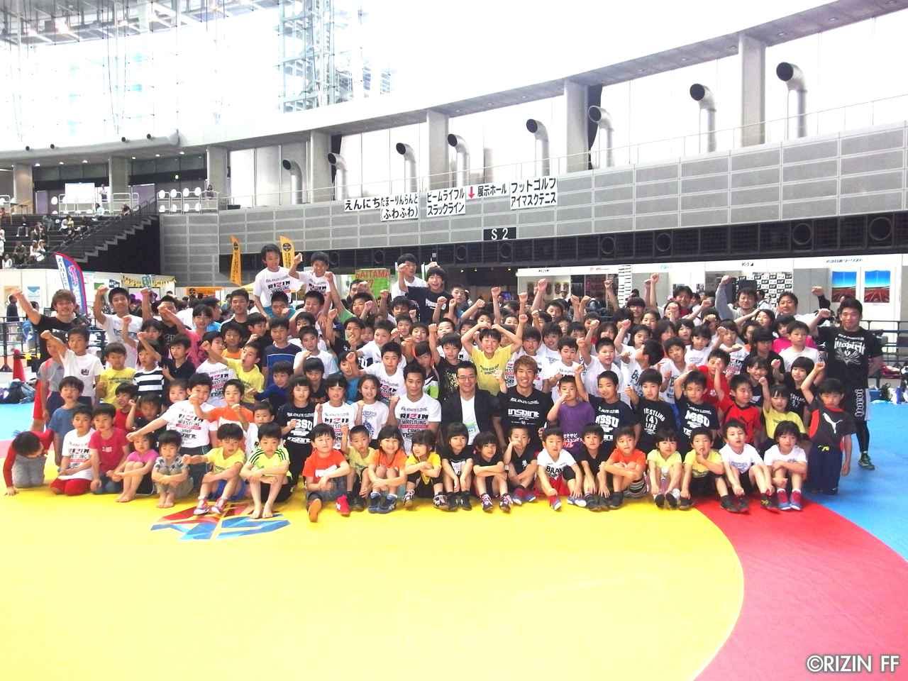 画像14: リオ五輪銀メダリストの太田忍が200人のちびっこたちにレスリングを指導!第2回RIZINレスリングキャンプ大盛況!!