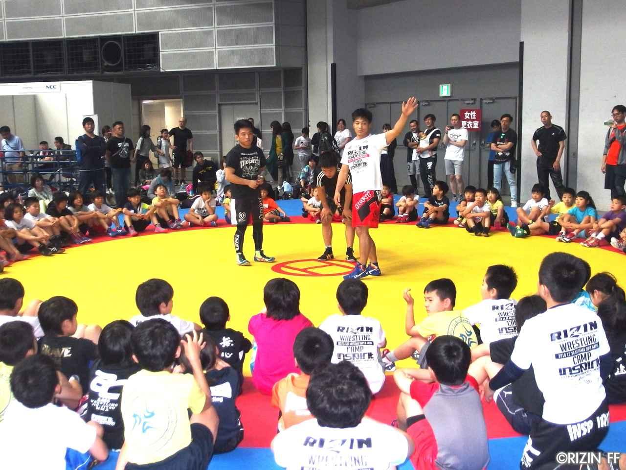 画像4: リオ五輪銀メダリストの太田忍が200人のちびっこたちにレスリングを指導!第2回RIZINレスリングキャンプ大盛況!!