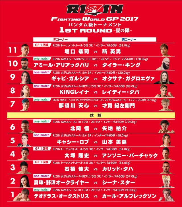 画像: 7月30日(日) 「RIZIN -夏の陣-」対戦順が決定!!