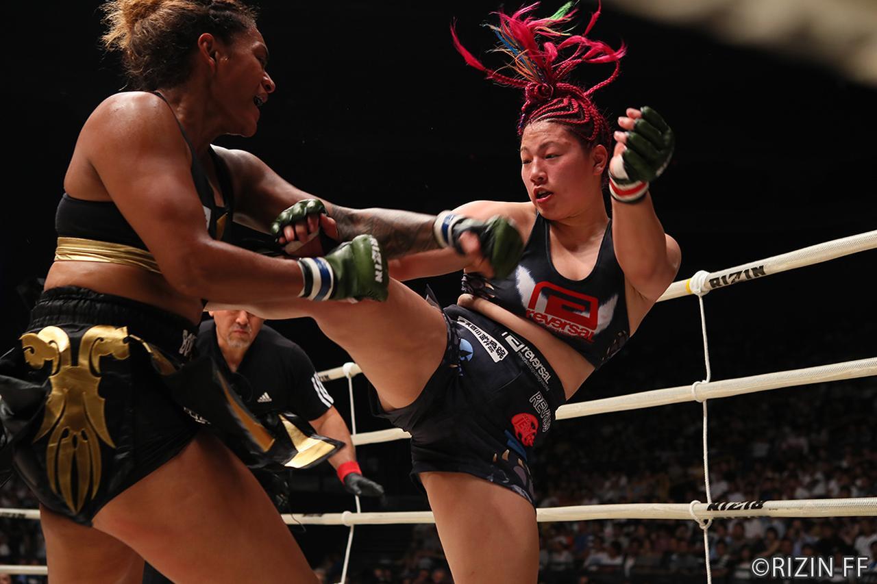 画像12: 第8試合 KINGレイナ VS. レイディー・タパ(試合結果詳細)RIZIN FIGHTING WORLD GRAND-PRIX 2017 バンタム級トーナメント 1st ROUND -夏の陣-